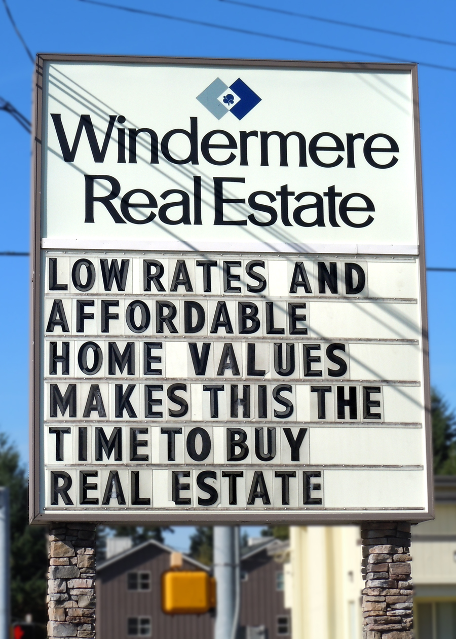 low rates - affordable home values