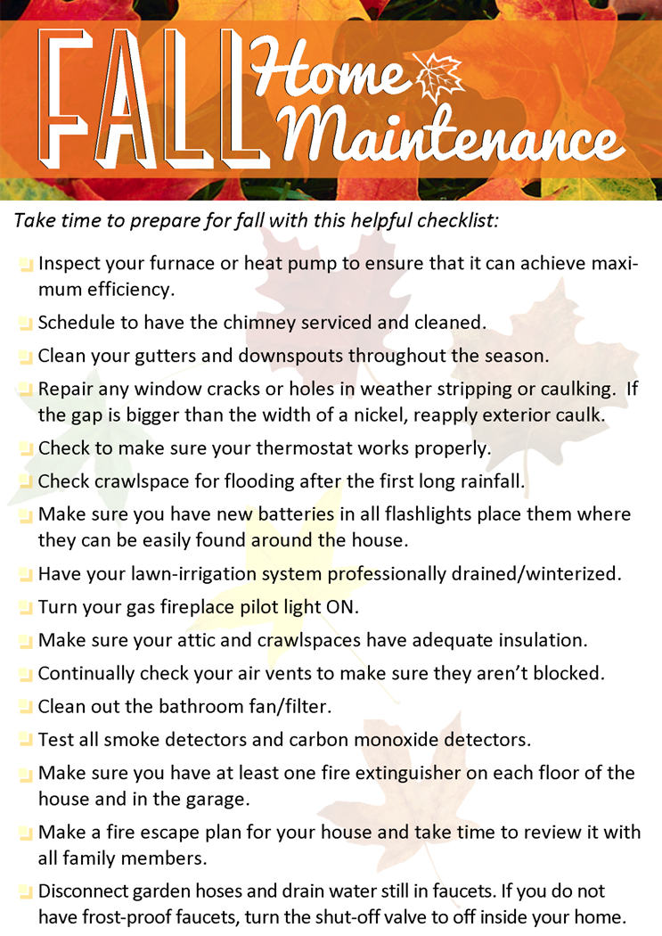Fall Home Maintenance Tips - Windermere Shoreline