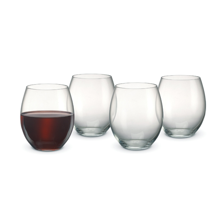 red wine with three empty
