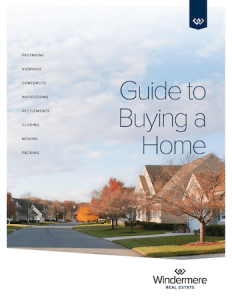 Windermere Home Buying Guide Cover